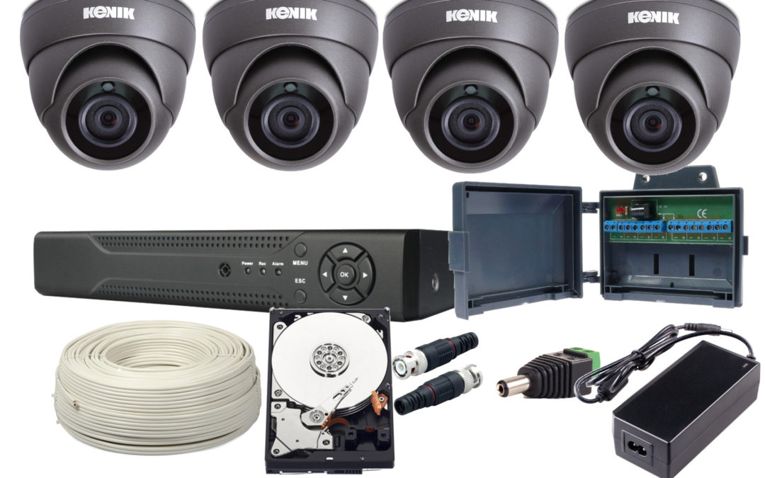 Monitoring AHD na kablu koncentrycznym lub skrętce